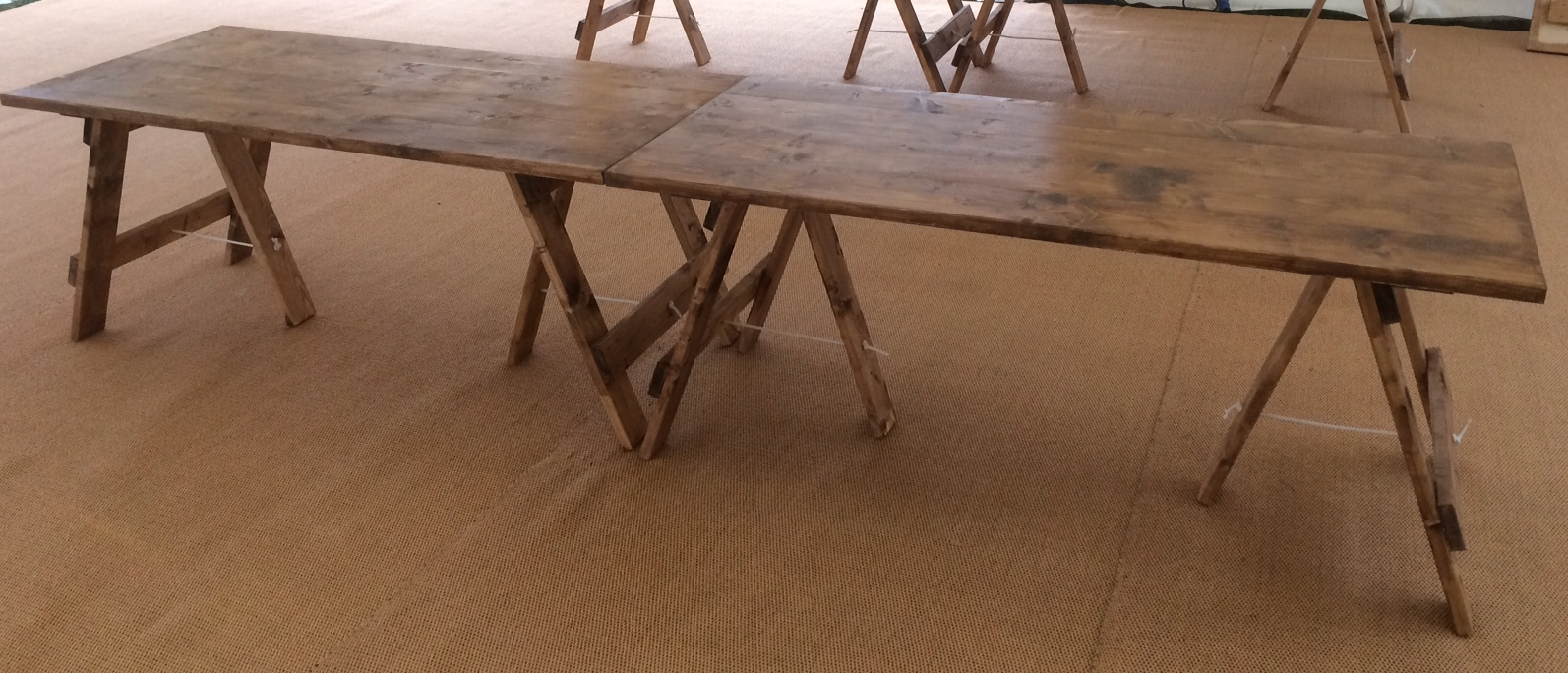 Rustic Trestle Tables For Hire